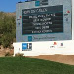 CWGA student Tom McKean plays with Pro Miguel Angel Jimenez